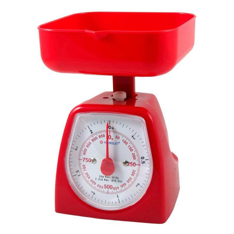 HOMSUIT Kitchen Scale Square 1kg - Red