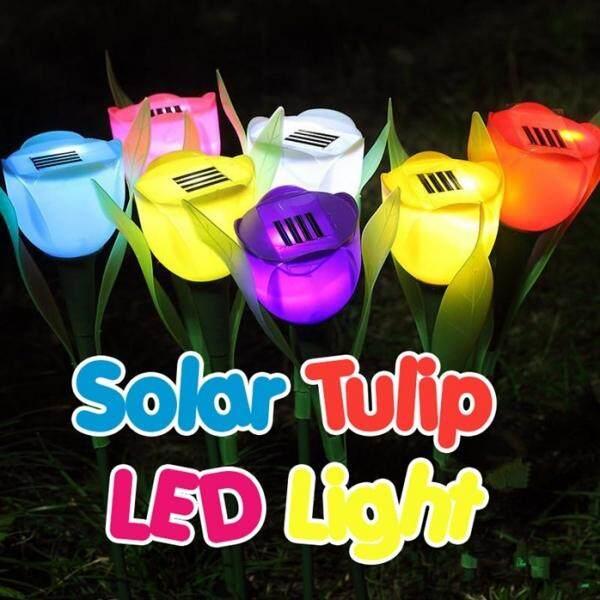 Hot Solar Tulip Light LED Garden Lamp Blue