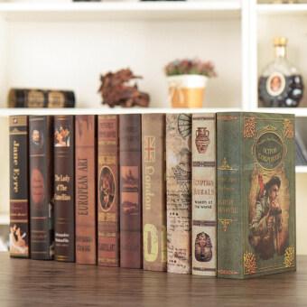 Vintage Living Room Cabinet Racks Fake Book