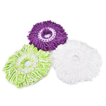 Household Magic Replacement Refill 360?Spin Cleaning Pad Microfiber Mop Head White