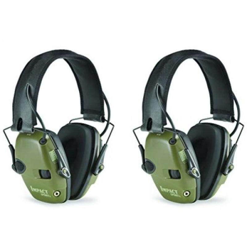 Buy Howard Leight by Honeywell R-01526-PK2 2-Pack Impact Sport Sound Amplification Electronic Earmuff, Classic Green (R-01526-PK2), , Classic Green Malaysia