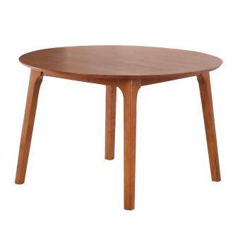 "HUDSON SOLID RUBBERWOOD ROUND DINING TABLE 120CM 48"" INCH (DIRTY OAK)"
