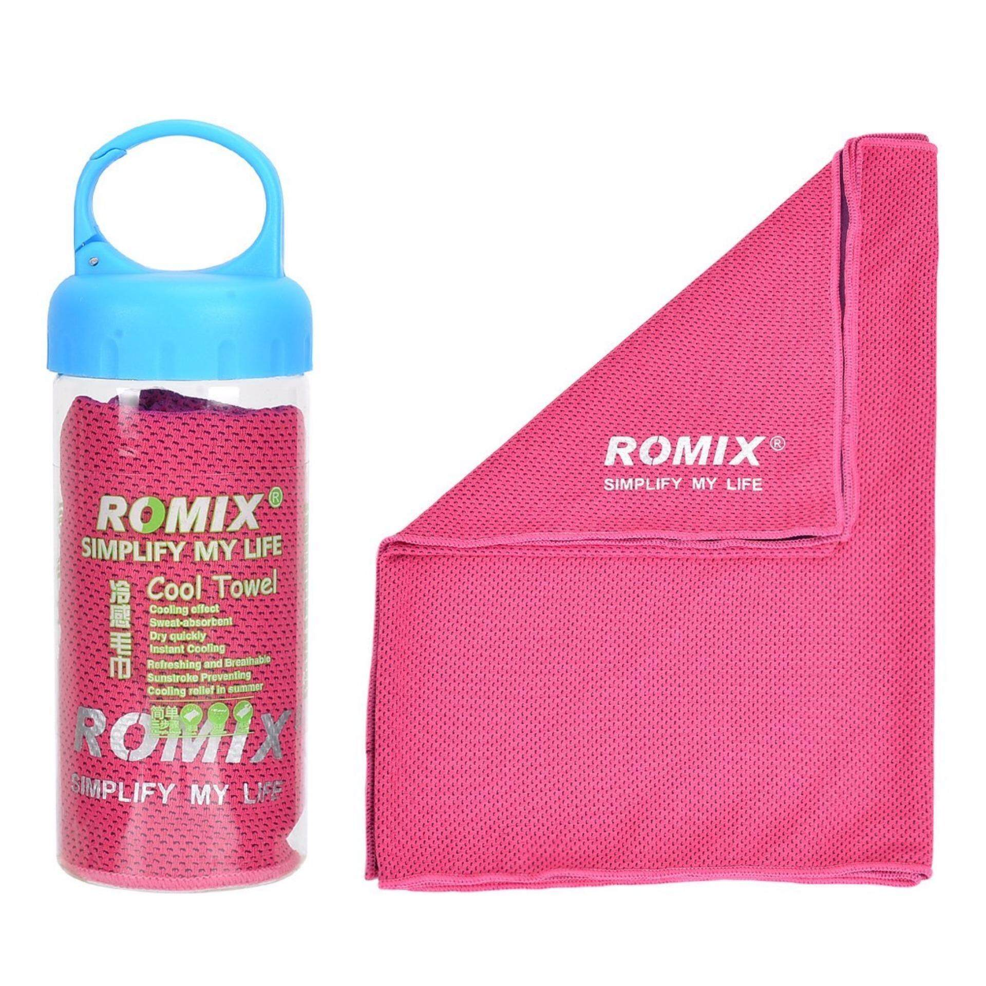 Cooling Towel Romix Ice Cool Towel Reuseable Running (Cycling, Hiking, Outdoor, Sports, exercise)