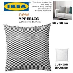 IKEA YPPERLIG 50 x 50cm Cushion Cover With Cushion Inner Pad Machine Washable 100% Cotton Couch Sofa Pillow