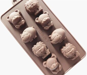 Harga ilovebaby Silicone Animal Bear Lion Hippo Chocolate Sweet CandySoap Ice Cube Tray Mould Mold DIY