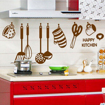 Harga Creative Cooking Utensil Spatula Cup Wall Mural Stickers Art Decal Kitchen New
