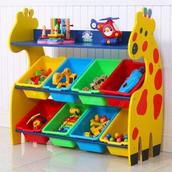 Harga Children Giraffe Storage Rack with 8 Boxes