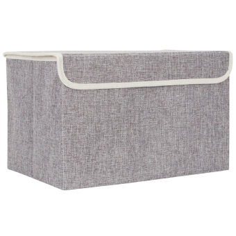 Harga Foldable Storage Box (Grey)