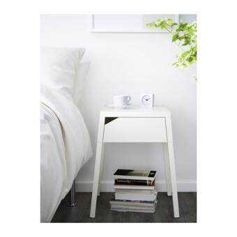Harga Charging Friendly Side / Bedside Table - White