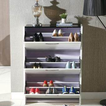 Harga S2480 Modern Flip 3 Layers Shoes Storage Cabinet