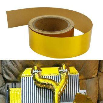 Harga Good Service 2''x29.5ft Roll Adhesive Reflective Gold High Temperature Heat Shield Wrap Tape
