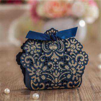 Harga Yika 25PCS Luxury Wedding Favour Favor Sweet Cake Gift Candy Boxes Table Deco