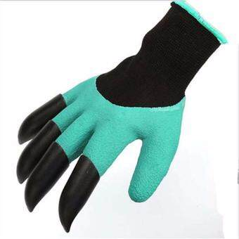 Harga Hanyu Rubber Work Gloves Can Be Protective Dusting Insulation Gardening Gloves Excavate earth Labor Protective Gloves