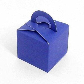 Harga 2016 Wedding Favor Holders Gift Favor Boxes Candy Color Chocolate Bags Square Paper Packing Bags Set of 10 (Royal Blue)