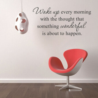 Harga Amart Wall Stickers Wake up Every Morning Inspirational Quotes Bedroom Walls Decals