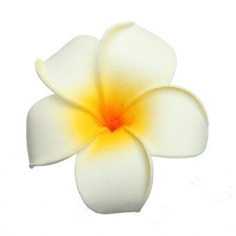 Harga 12Pcs Foam Floating Frangipani Artificial Plumeria Hawaii Flowers Heads White