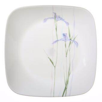 Harga New Original Corelle Livingware 6-Piece Square Shadow Iris Dinner Plate Set