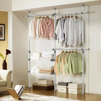 Harga DoYoung Made-In-Korea Adjustable Triple Pole Shelf System