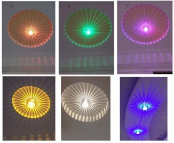 Harga BUYINCOINS Creative 3W LED Wall Hall Ceiling Light Walkway Porch Decoration Sun Flower Wall Lamp(Red)