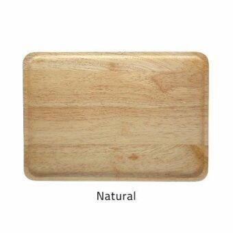 Harga Acacia Color Wooden Plates - Large - 100% Natural Solid Wood (Natural Color)