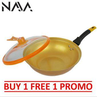 Harga [Buy1Free1] NaVa Golden Divine Non-Stick Cooking 32cm Frying Pot