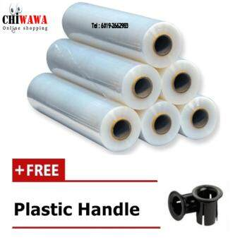 Harga 6 Rolls 500mm x 3 KG Stretch Film Transparent Clear In Quality 23micron Thickness + Width 10.5cm (PROMOTION Price)