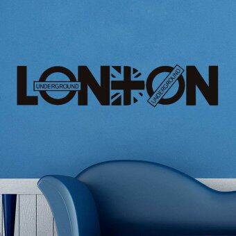 Harga GETEK London British Style Wall Sticker (Black)