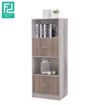 Harga Furniture Direct CELINA 2 tone 4 tier color bookcase