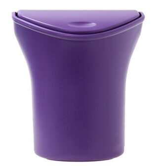 Harga HengSong Car Dustbin Trash Can Garbage Bins Storage Box Purple