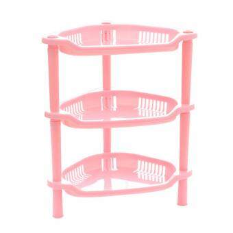 Harga NaVa Triangle 3 Layer Triangle Multipurpose Plastic Organizing Rack (PINK)