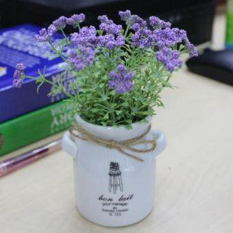 Harga Home Office Decoration and Gift- Beautiful and Elegant Artificial Purple Flower