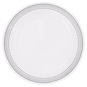 Harga New Original Corelle Livingware 6-Piece Mystic Gray Dinner Plate Set