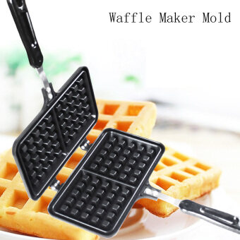 Harga Two Grid Non-stick Waffle Maker Mold Muffin Cake Making Pan DIY Home Baking Mold