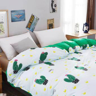 Harga Alfa High Quality Fashion Aloe cotton 4pcs Multicolor Bedding Set (Cactus)