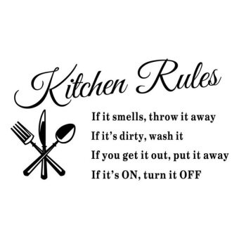 Harga Removable Kitchen Rules Words Wall Stickers Decal Home Decor Vinyl Art Mural