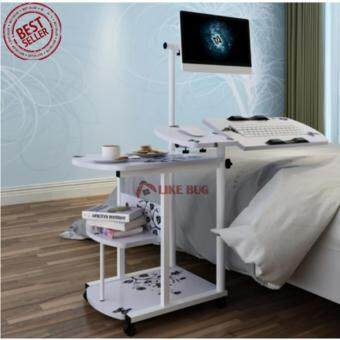 Harga FARMIE: Space Saving Movable Computer Desk with Shelf