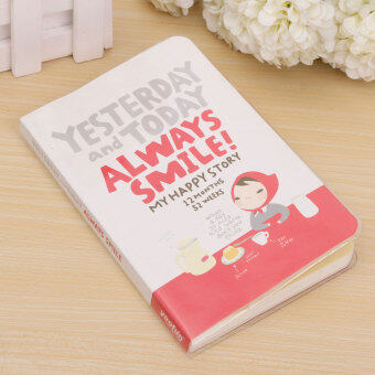 "Harga ""Always Smile"" Korean Diary Study Planner Pocket Notebook Scheduler Agenda Memo Red"