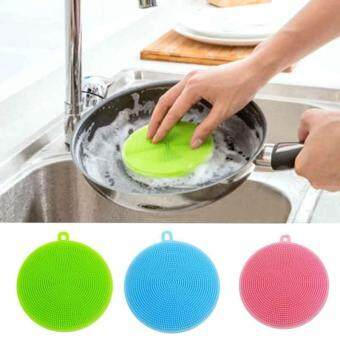 Harga Silicone DishWashing Scrubbers Pad Cleaning Mat Kitchen Washing Tools Cleaner