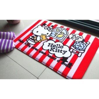 Harga Cartoon-Theme Non-Slip Bath Mat/Christmas Deco/New Year Deco - Red Kitty