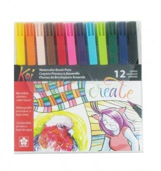 Harga Koi Coloring Brush Pen Set Of 12