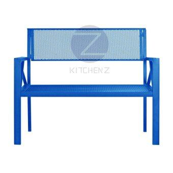 Harga Kitchen Z Outdoor Bench Chair BC5919bl Metal Bench Chair - Blue