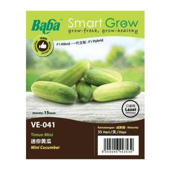 Harga Baba Smart Grow Seeds VE-041 Mini Cucumber (Timun Mini) 15SEEDS