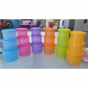 Harga Tupperware Snack N Stack Set of 3pcs each Size - Blue
