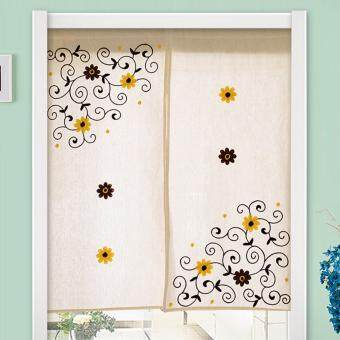 Harga Mimosifolia Door Curtains Bedroom curtain Room Dividers curtain 42.5X150CM 2piece /set