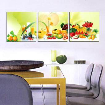 Harga 3Panels kitchen fruit Modern Wall Painting flower Art Picture Paint on Canvas Prints for home home decor (No frame)