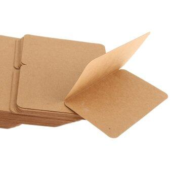 Harga MagiDeal 100pcs Kraft Paper Folding Greeting & Writing Cards Brown