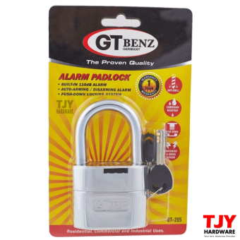 Harga ORIGINAL GT Benz Single Alarm Padlock (German Technology)