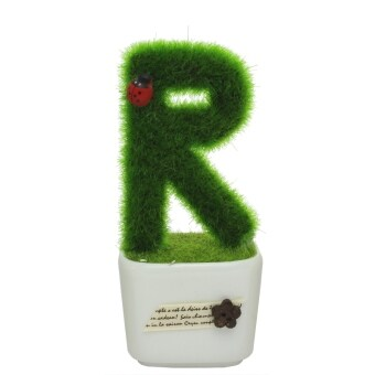 Harga Home Decorative Customized Alphabet - R Hedge In The Pot