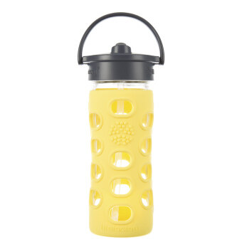 Harga Lifefactory Glass Bottle - 12oz (350ml) - Straw Cap - (Lemon)