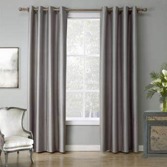 Harga Modern Solid color Grey Blackout Curtain Window Curtains for Living Room 140cmx240cm